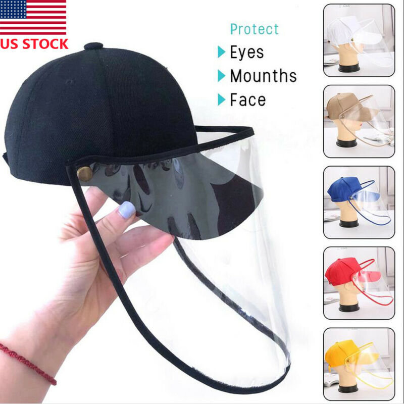 Anti-Virus Safety Hat Anti Fog Dust Splash-proof Hat Work Face Mask Protection Cap Hot