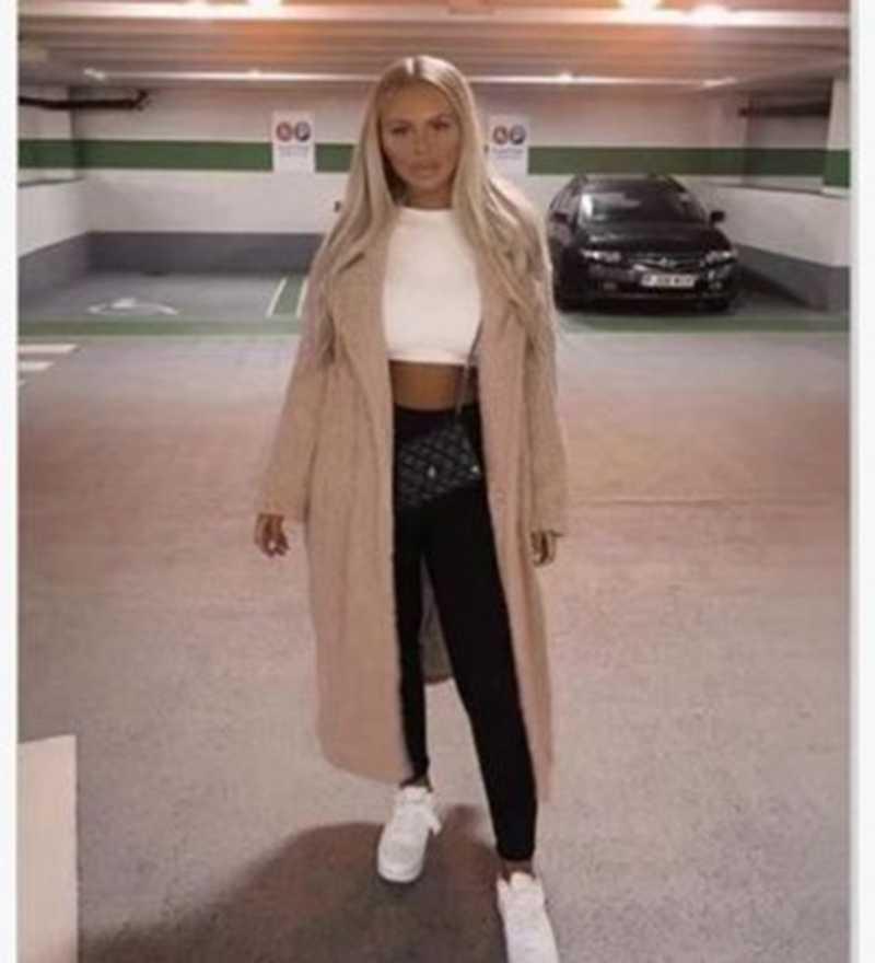 SHUJIN Autunno Inverno Donne Lungo Cappotto Semplice Preparazione Per La Sera Collare di Lana Del Cappotto Più Caldo di Spessore Tweed Tuta Sportiva Casacos Femininos 2019