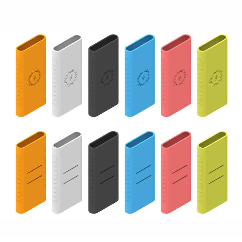 New for Xiaomi Wireless Charging Power Bank 10000mAh Soft Rubber Silicone Protect Case Cover Skin Sleeve Protector Shell Cases
