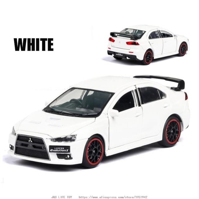 1:32 Mitsubishi Lancer Evolution x Toy Car Metal Toy Diecasts & Toy Vehicles Car Model  High Simulation Car Toy Christmas GiftDiecasts & Toy Vehicles