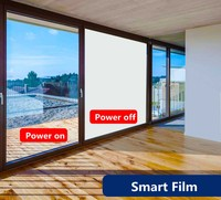 SUNICE PDLC Smart Film Electric Window Film Smart Switchable Adhesive Window Film Use For Home Office Partition