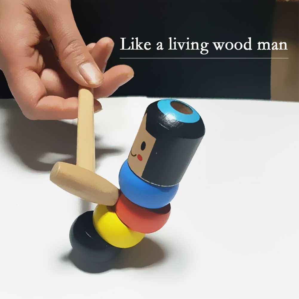 1 مجموعة داروما رجل خشبي غير قابلة للكسر لعبة سحرية الخدع السحرية عن قرب المرحلة الدعائم السحرية الكوميديا Mentalism لعبة ممتعة ملحق