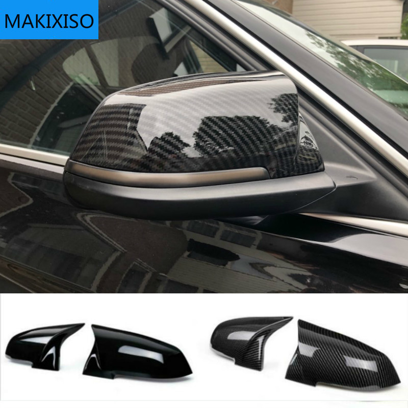 2 шт., крышка для зеркала заднего вида, углеродная черная крышка для BMW серии 1 2 3 4 X M 220i 328i 420i F20 F21 F22 F23 F30 F32 F33 F36 X1