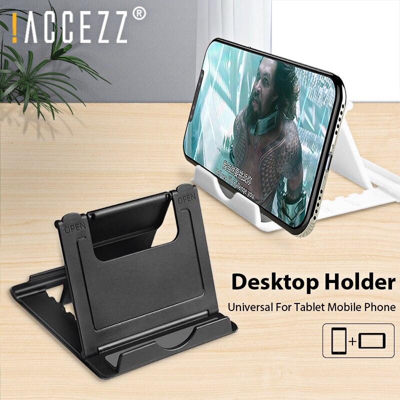 !ACCEZZ Mobile Phone Holder Stand Universal For IPhone 11 Pro Samsung 4-12inch Adjustable For Ipad Tablet Desktop Holder Bracket
