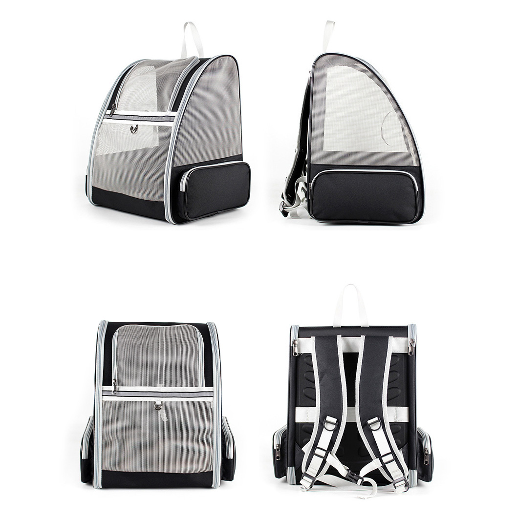 Foldable Pet Cat Carrier Bag Portable Breathable Mesh Zipper Double Shoulder Backpack For Small Dog Cat Travel Hiking Supplies 5
