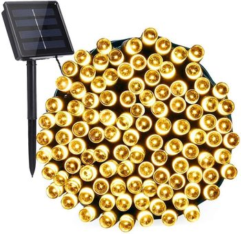 ledniceker multi colored solar led string lights with garden solar panel for garden patio christmas tree parties and all outdoor and indoor activities decoration 4 8 meters long 20 waterproof bulbs LEADLY Globe Solar String Lights 100 LED Outdoor Bulb String Lights Waterproof 8 Modes Solar Patio Lights For Patio Garden Gazeb