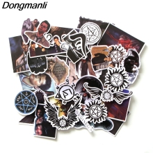 L3541 Dongmanli 37pcs/set Supernatural  DIY Skateboard Graffiti Laptop Badge Motorcycle Luggage Accessories