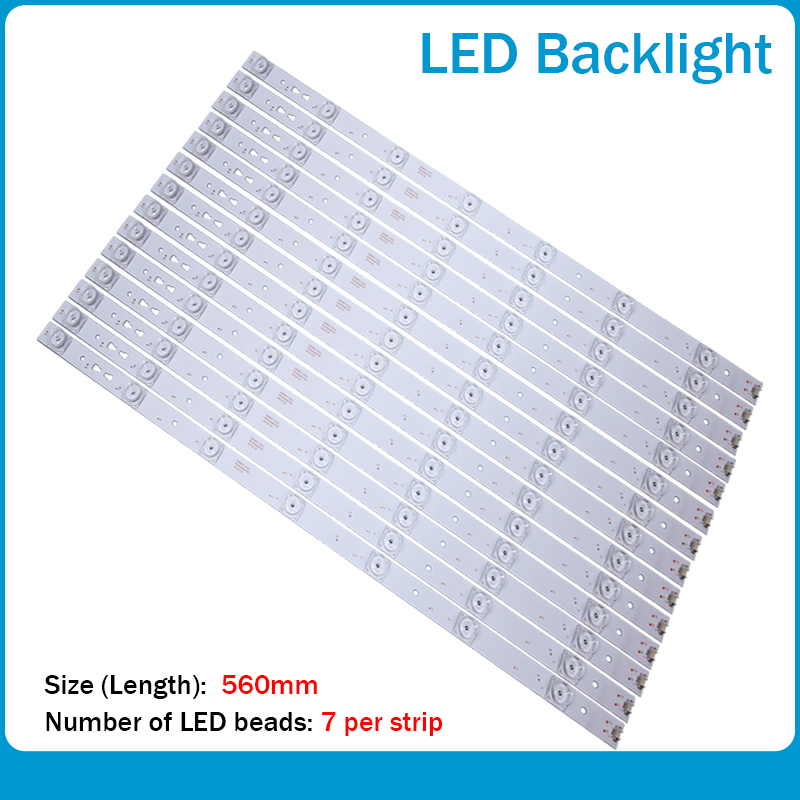 LED Backlight Strip 7leds For Haier LE55A7100L LE55B510N/LE55B510X 30355007202 LED55D7-01A/B