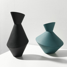 Nordic Style Home Decoration Creative Vase Abstract Craft Living Room Soft Geometric Ceramic Flower