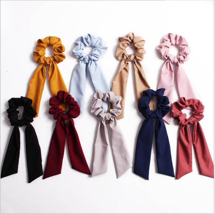 Hbcf488eeead84bb6b7c4e3326075d2aaH - Fashion Silk Satin Summer Ponytail Scarf Stripe Flower Print Ribbon Hairbands Hair Scrunchies Vintage Girls Hair Accessoires