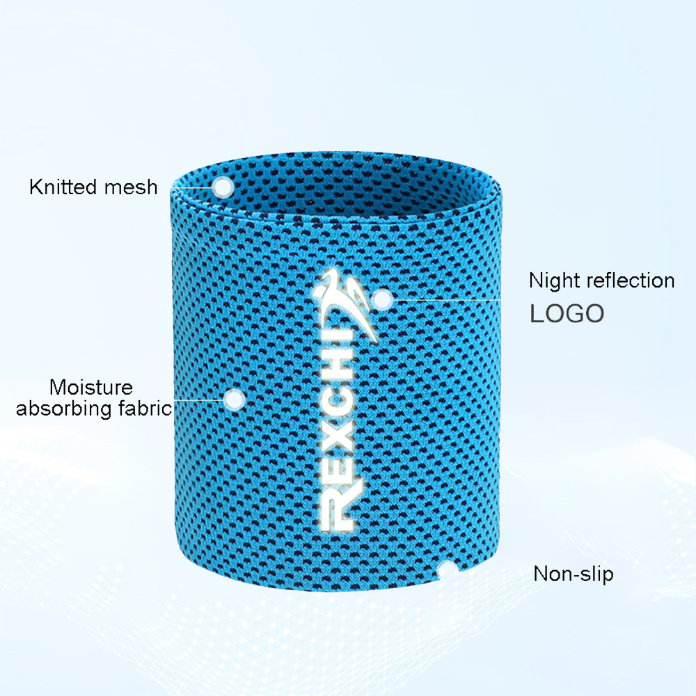 1pcs Wrist Brace Support Breathable Ice Cooling Sweat Band Tennis Wristband Wrap Sport Sweatband For Gym Yoga Volleyball 6