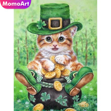 MomoArt Diy Diamond Embroidery Full Drill Cat Diamond Painting Square Rhinestone Diamond Mosaic Cross Stitch Animal momoart diamond embroidery landscape full drill diamond painting square rhinestone diamond mosaic animal cross stitch