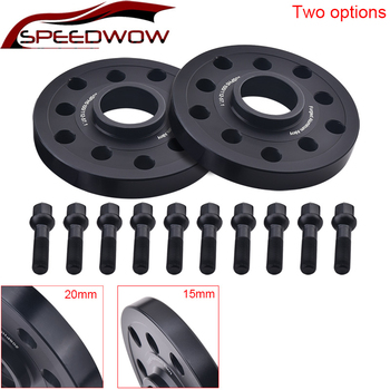 2PCS 15mm/20mm Auto Car Wheel Tire Spacers Aluminum For Audi Kit 5x100/5x112 CB:57.1 A1/A2/A3/A4 (B5,B6,B7)/A6(C4,C5,C6)/A8
