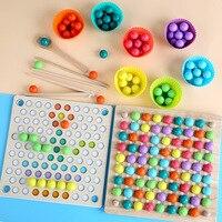 Juguete de madera para niños con cuentas estilo Montessori, juego educativo para bebé, tabla con bolas, matemáticas, entrenamiento del cerebro