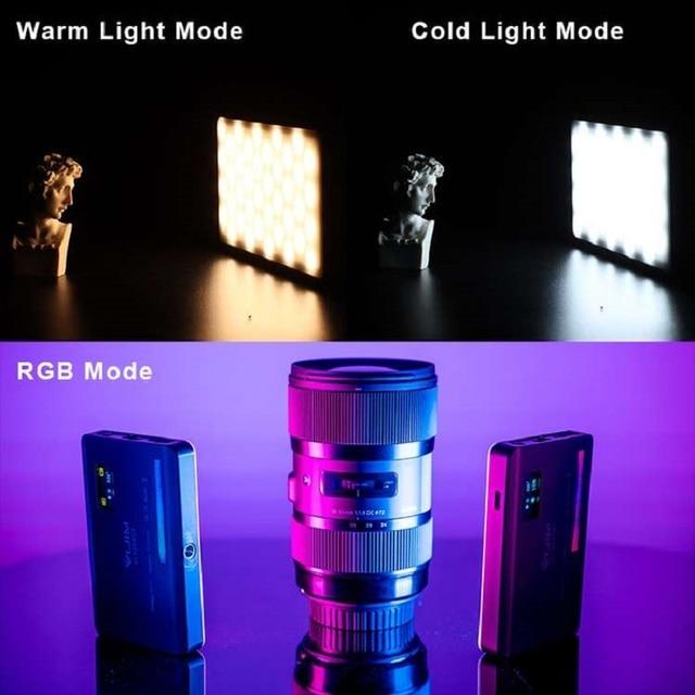 Ulanzi VIJIM VL120 RGB Video Light LED Camera Light Full Color 3100mAh Dimmable 2500K-9000K Bi-Color Panel Light Studio Lamp 2