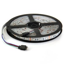 5M RGB 5050 Waterproof LED Strip light SMD 24/48 Key Remote 12V US Power Full Kit practical portable light