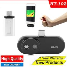 HT-102 Thermometer Multifunction Meter Handheld Detection Mobile Phone Infrared Black High Thermal Imager for Android