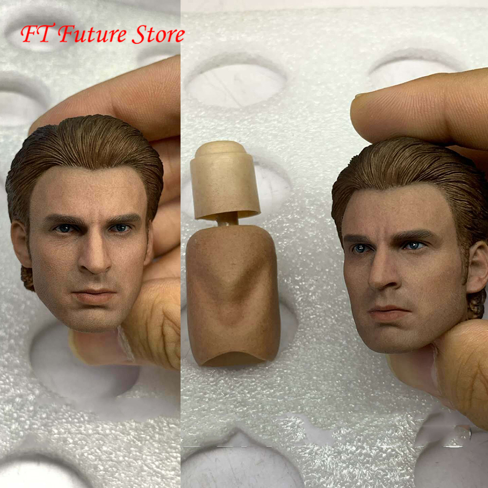 "Captain America 1//12 Head Carving Sculpt Model Male Figure for 6/"" Action Body"