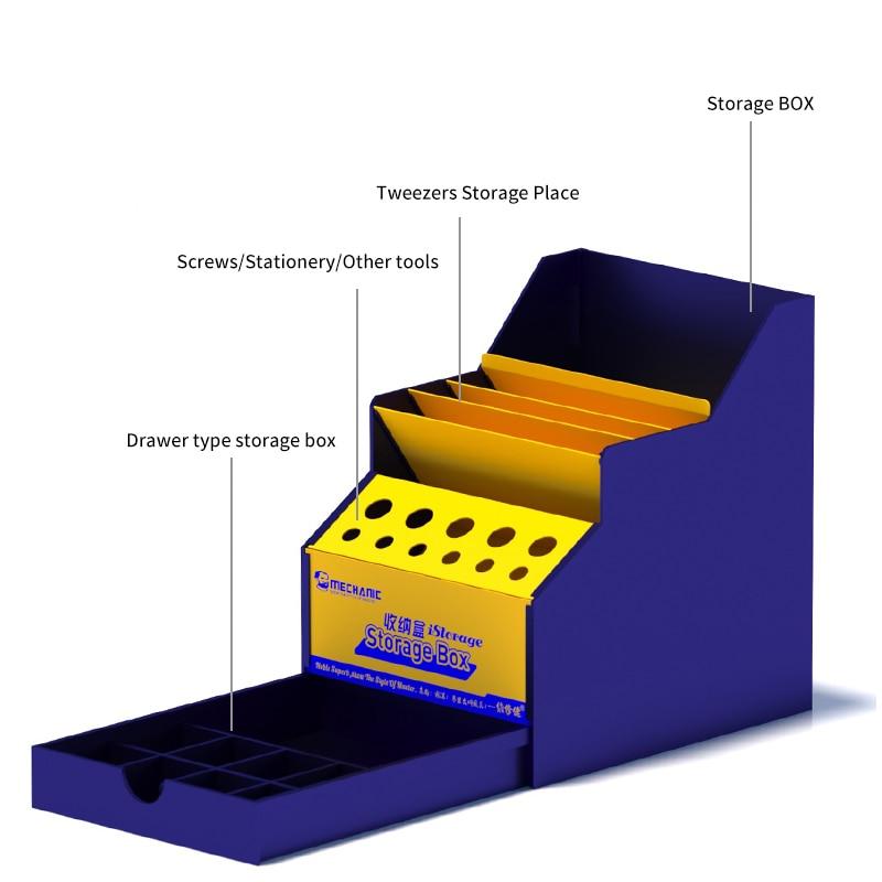 MECHANIC Multi-function Mobile Phone Repair Tools Box PVC Storage Box Screwdrivers Tweezers Cellphone Repair Tool