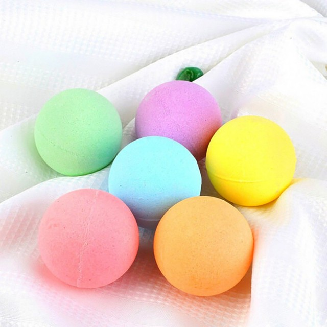 Organic Bath Bombs Bubble 6pcs Bath Salts Ball Essential Oils Handmade SPA Stress Relief Exfoliating Mint Lavender Rose Flavor 3