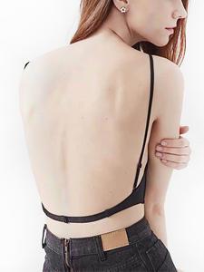 Sexy Low Back Bra New U Shape Backless Ultra Thin  Bralette Underwear Women Lingerie