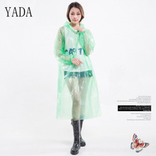 Transparent Raincoat Poncho Hooded Clear Travel Hiking Adult Waterproof Fashion RC200004