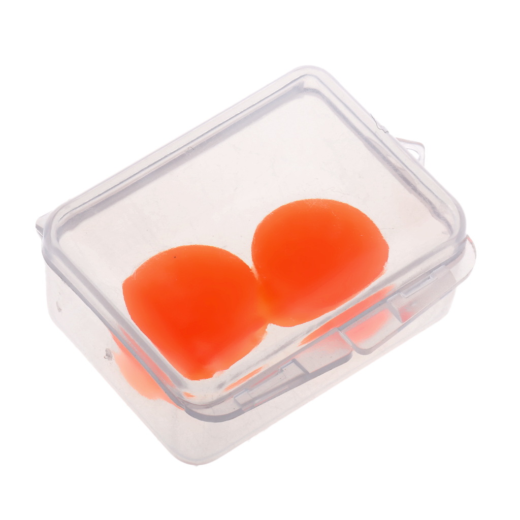 2 Pcs Soft Silicone Moldable Ear Plugs Set For Swimming (with Case) - Comfortable Earplugs, One Size Fits Most