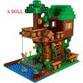 Мой Мир фермы коттедж строительные блоки деревня конь Совместимость дом цифры Наборы кубиков игрушки на день рождения подарки для детей