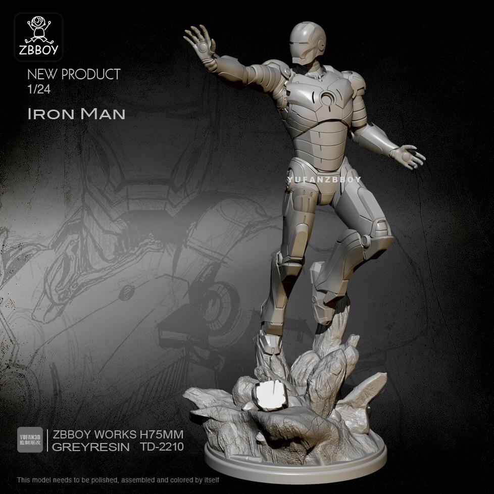 1/24 Resin Figure Kits Iron Man Model Self-assembled TD-2210