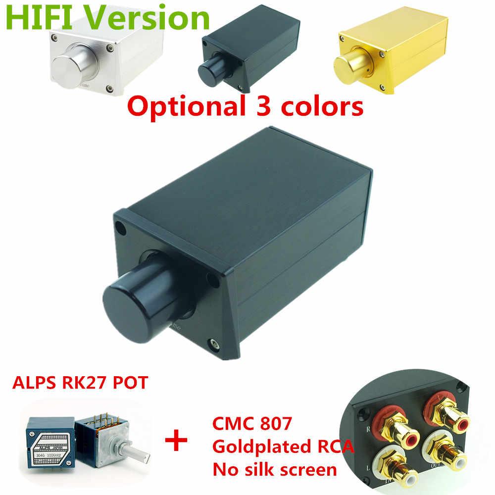 ALPS AK27-preamplificador pasivo de alta precisión, controlador de volumen, preamplificador de potencia, altavoces activos