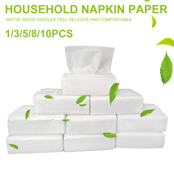 10pcs 3-layer Thickened Wood Pulp Paper Tissues Soft Disposable Napkins for Restaurant Hotel Paper Napkins Toilet Napkin Paper vintage printed rose flower dragonfly paper napkins for event