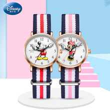 Disney Top Brand Original Mickey Minne Mouse Child Boys Girls Wristwatches Quartz Canvas Waterproof