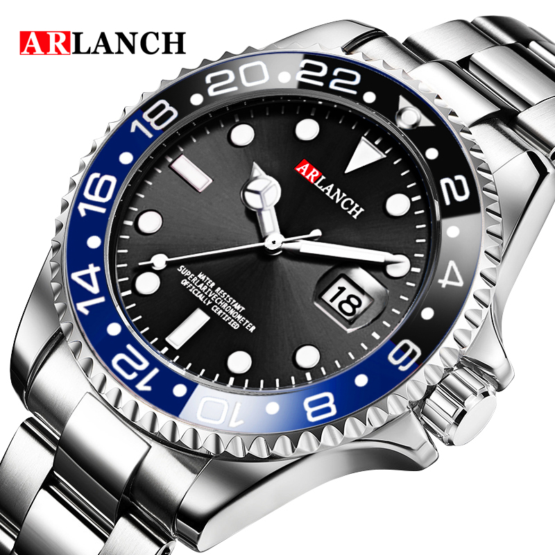 Hot New Men Quartz Watch Automatic Date Waterproof Sport Watches Fashion Luxury Stainless Steel Male Clock Relogio Masculino