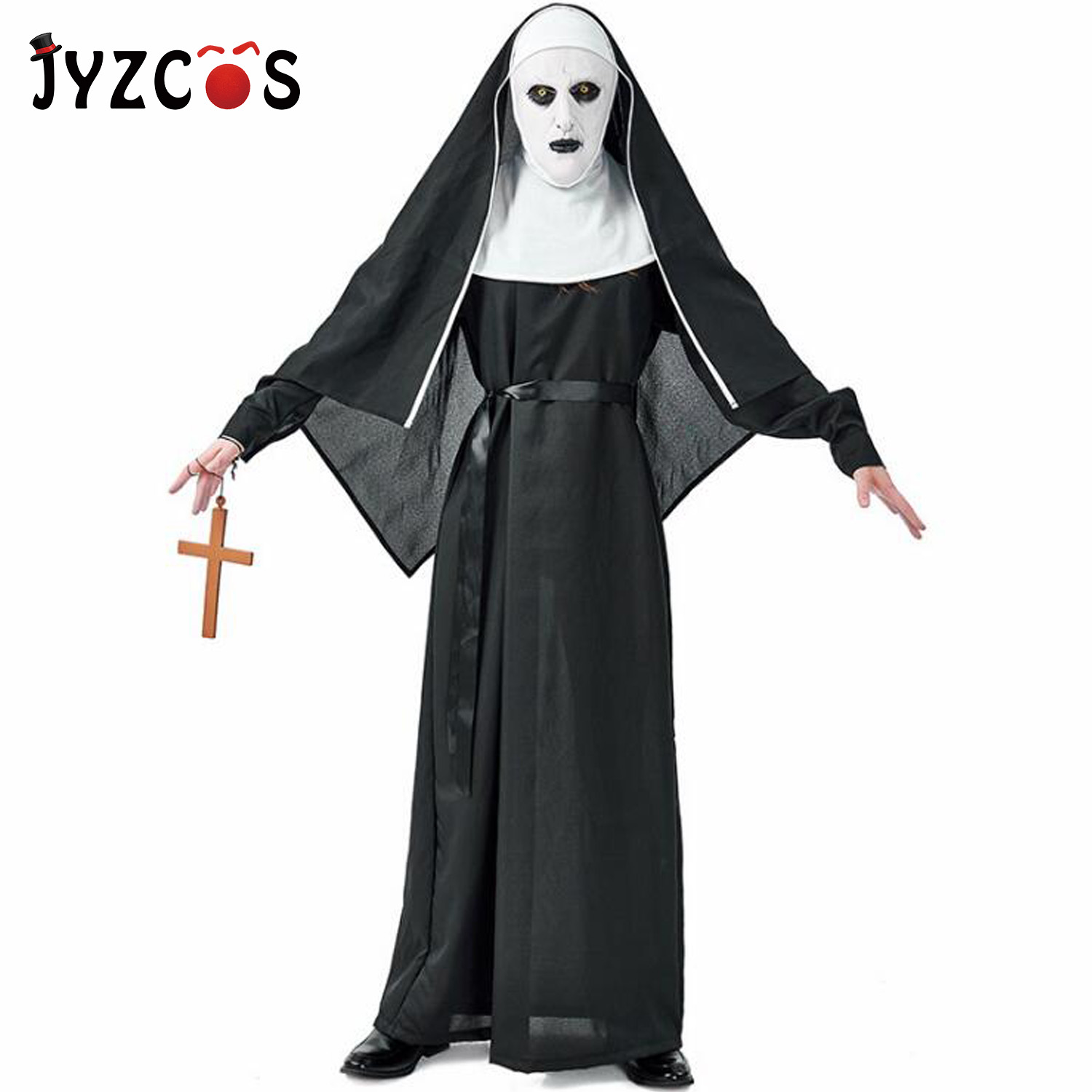 Cloak Adults Hooded Cape Medieval Cosplay Devil Ghost Costume Fancy Dress