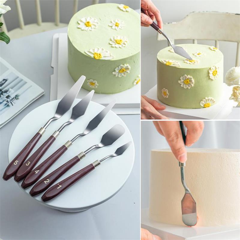 1x Kitchen Cake Cream Mini Spatula Mixing Scraper Butter Baking Silicone Tool FF