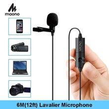 MAONO AU-100 Lavalier-mikrofon Clip-auf Kragen Kondensator Mikrofon Freisprecheinrichtung Revers Mic Für Smartphone Canon DSLR Kamera Laptop