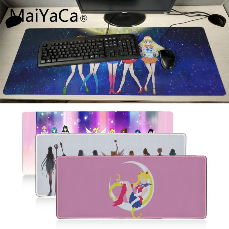 MaiYaCa Sailor Moon Japan Anime Large Mouse Pad Big Promotion Russia Gaming Mouse Pad Keyboard Desk Laptop Keyboards Mat