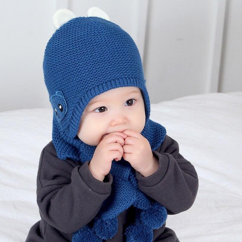 Wholesale New Autumn And Winter Princess Baby Cartoon Fleece-Lined Ear Cap Ball Scarf Hat Set