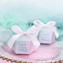 RMTPT Enjoy every moment Gifts Box Wedding Favors and Tiffany Candy Boxes Party Supplies Baby Shower Paper Sweet Chocol