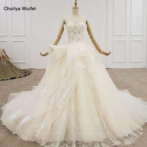 Image 1 - HTL1200 tüll hochzeit kleid 2020 liebsten applique pailletten kristall lace up prinzessin cut hochzeit kleider neue vestido de casamento