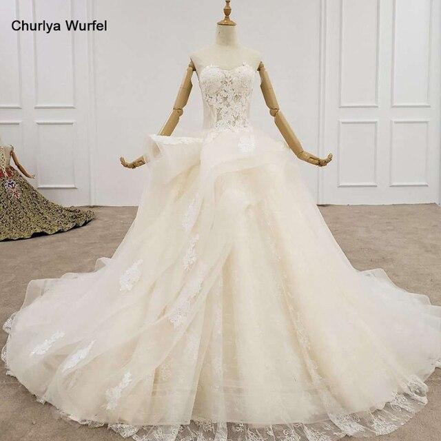HTL1200 tüll hochzeit kleid 2020 liebsten applique pailletten kristall lace up prinzessin cut hochzeit kleider neue vestido de casamento