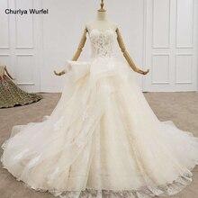 HTL1200 vestido de novia de tul 2020 apliques sin tirantes Cristal de lentejuelas encaje princesa corte vestidos de novia nuevo vestido de casamento