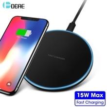 DCAE 15W QC 3.0 Fast Wireless Charger 10W Qi Charging Pad For iphone 11 X XS MAX XR 8 Plus Samsung S10 S9 Xiaomi Mi 9