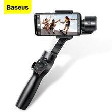 BASEUS 3 แกน Handheld Gimbal Stabilizer สมาร์ทโฟน Selfie Stick สำหรับ iPhone 11 PRO MAX Samsung Xiaomi Vlog โทรศัพท์มือถือ Gimbals