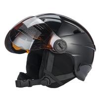 Authentic Half covered CE Certification Ski Helmet Integrally molded Outdoor Sports Goggles Skiing Helmet Snowboard Helmet