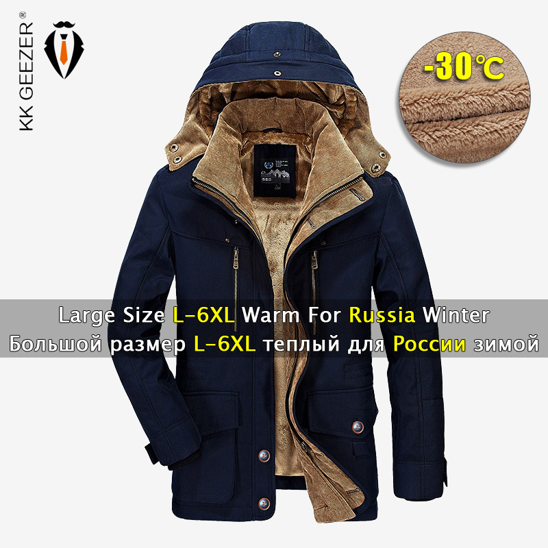 Winter Jacket Men 5XL 6XL Warm Coat Thickens Military Overcoat Windbreaker Parka High Quality Fleece Cotton-Padded Dropshipping