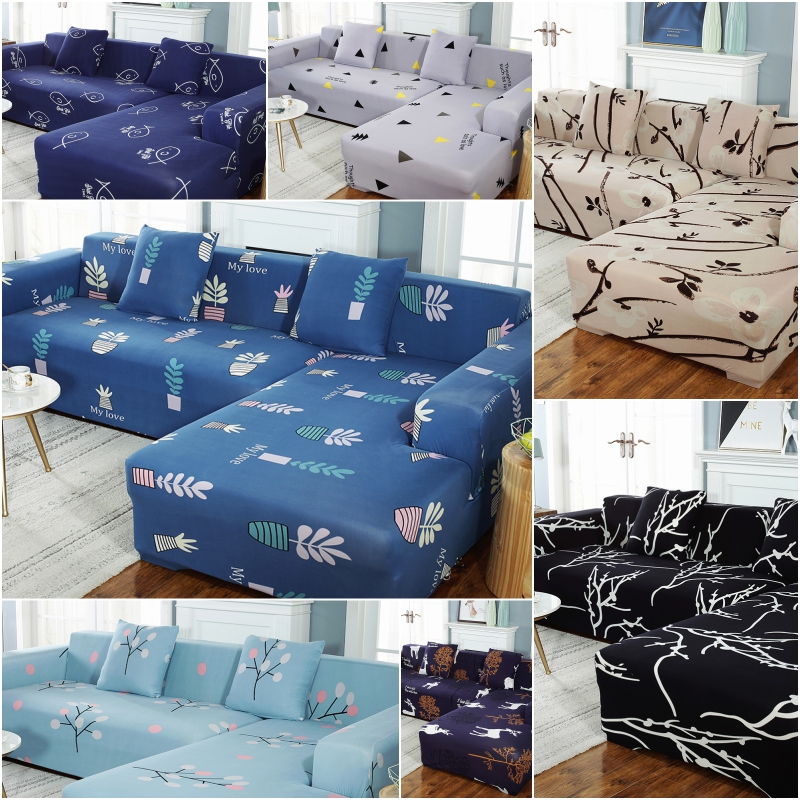 Sofa Cover Elastic Couch Cover for Sofa Sectional L Shaped Sofa Cover Chaise Longue Stretch Sofa Slipcover L shape
