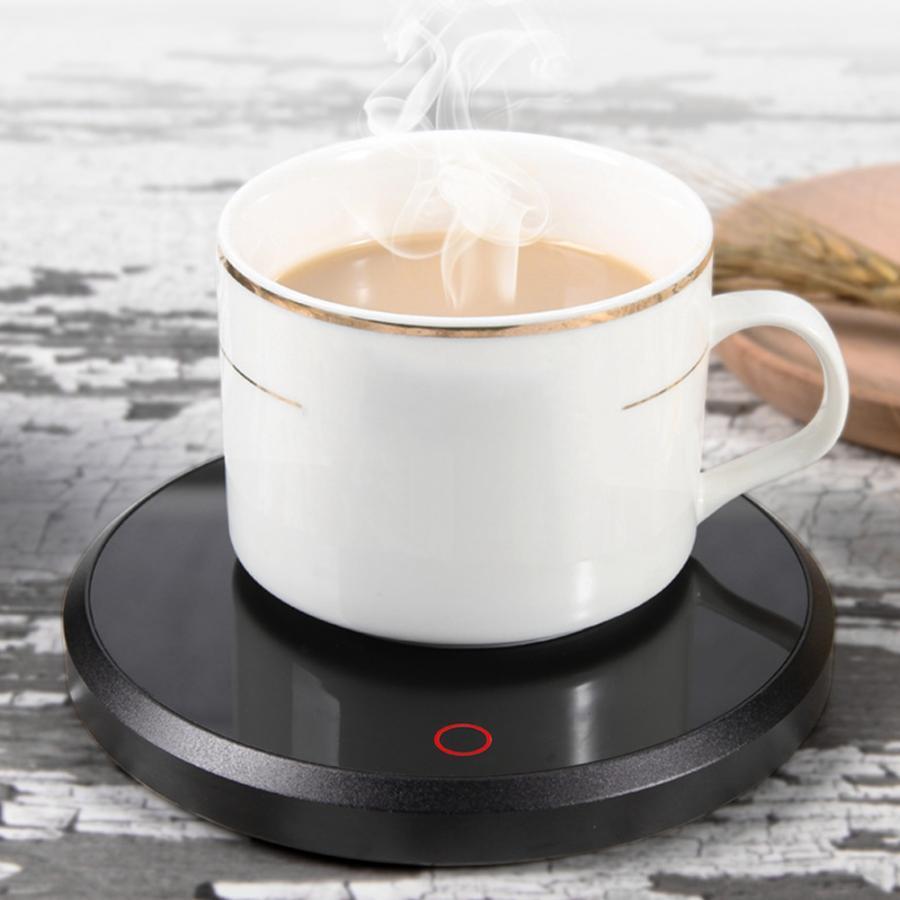 220V15W мини умный сенсорный нагрев изоляционная база стеклянный чайник нагреватель кофе молоко сок подогреватель держатель офисный стакан для воды термостат