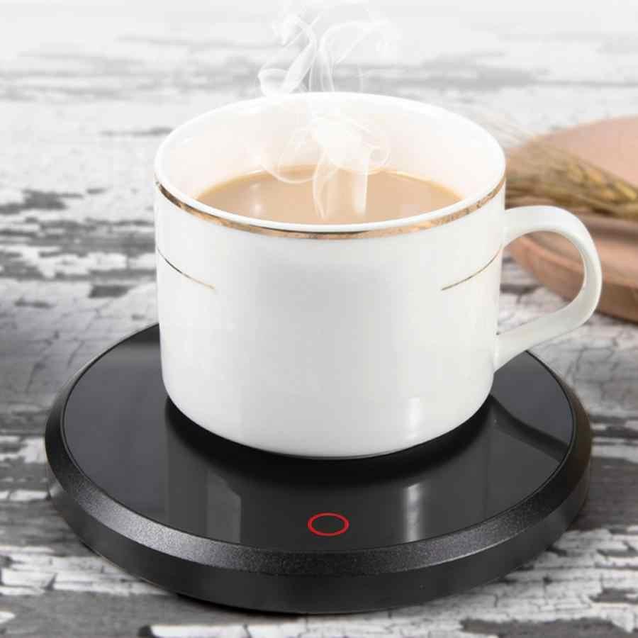 15 ワットスマートタッチ加熱絶縁ベースガラスティーポットヒーターコーヒーマグカップためホームオフィスミルクティー水加熱パッド