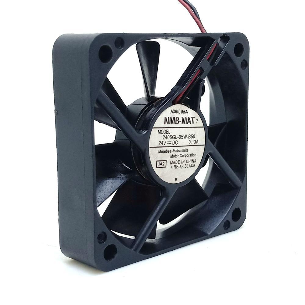 Вентилятор охлаждения 60 мм 24 в новый Для NMB 2406GL-05W-B50 24 В 0.20A 6 см 6015 2 провода защиты двигателя Вентилятор охлаждения